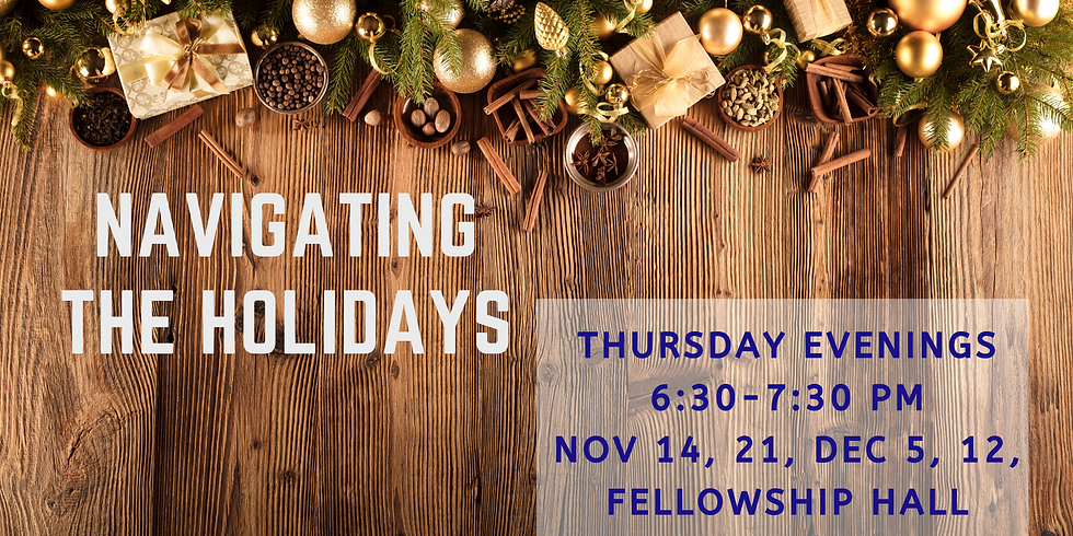 Navigating the Holidays (Support Group)