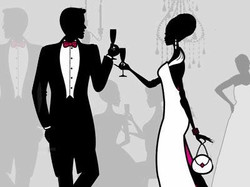 black-tie-event red tie