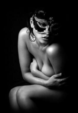 lace mask nude