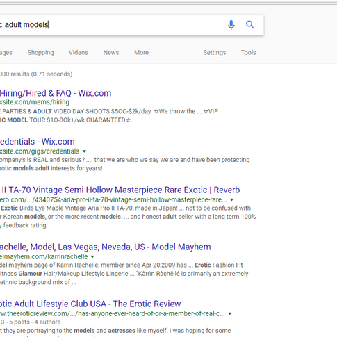 Google Rareexotic Adult Models