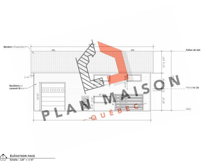 plan garage double alma