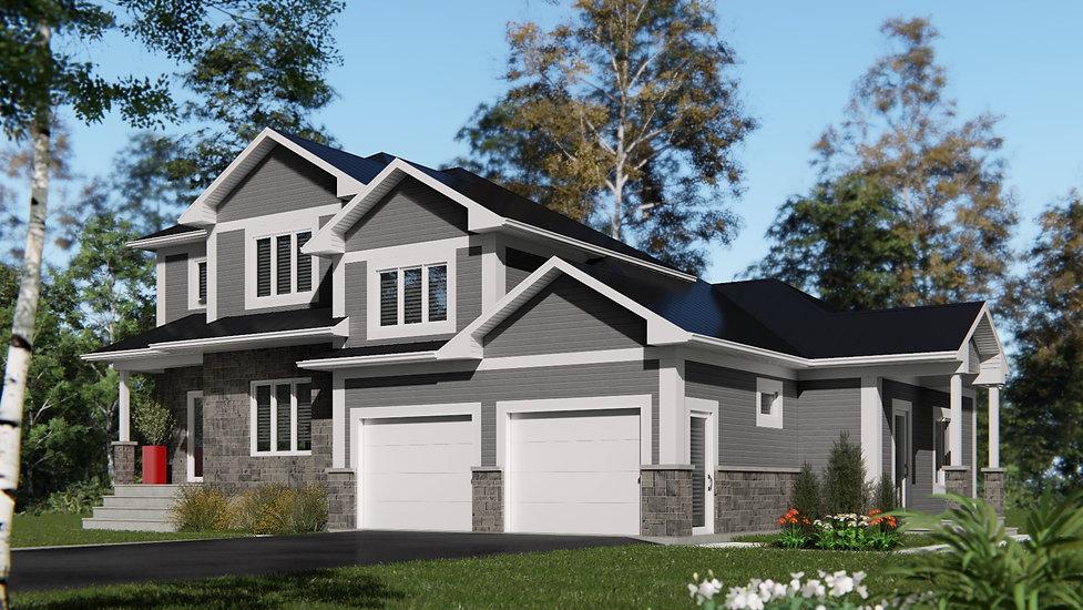 modele de maison avec garage levis