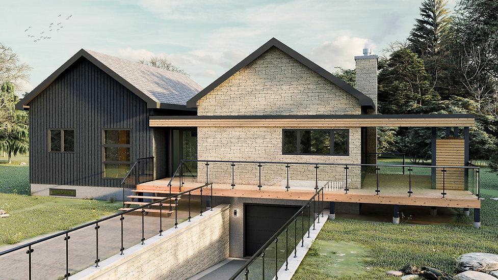 plan de chalet avec garage trois-rivieres
