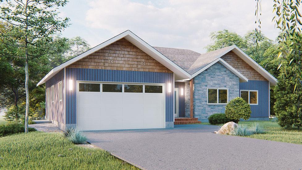 plan de maison avec garage chateauguay