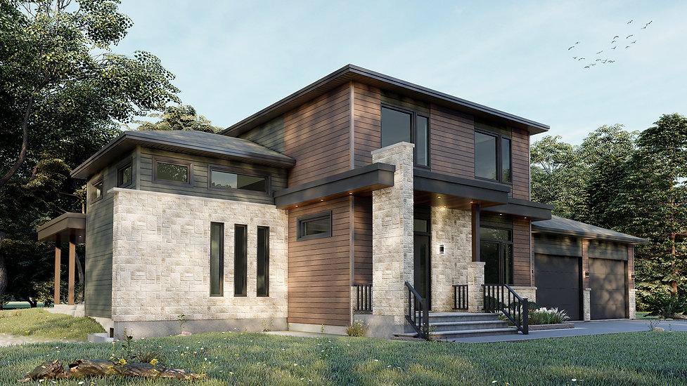 plan maison garage double