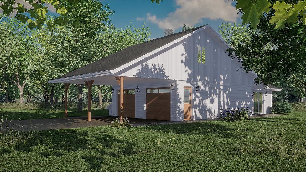 plan garage double blainville