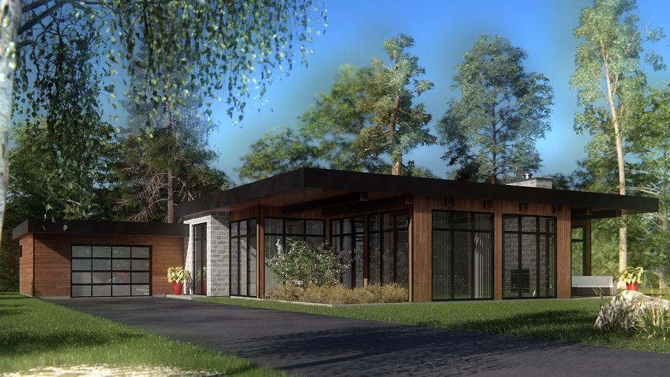 plan maison plain pied avec garage saguenay lac-saint-jean