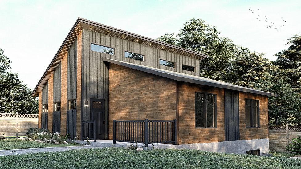 plan de construction maison plain pied