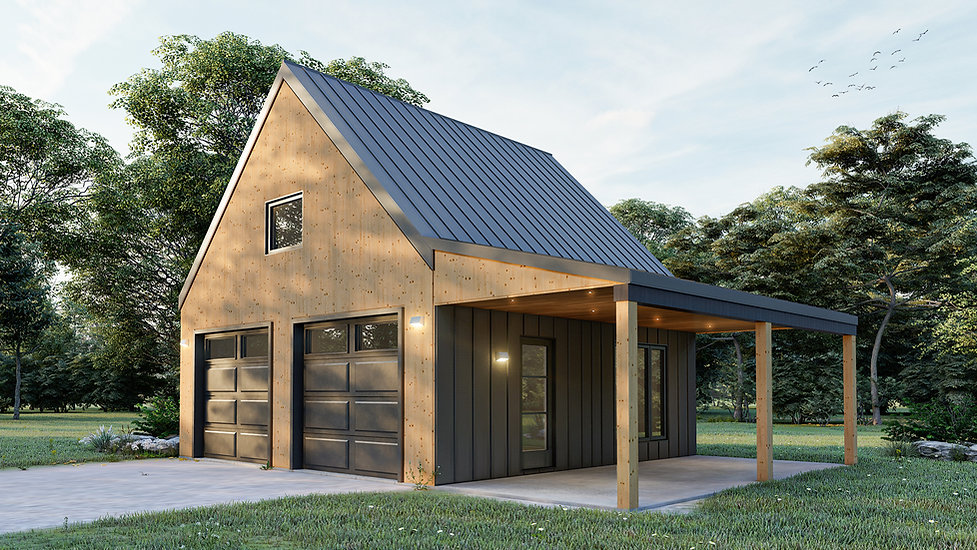 plan garage double terrebonne