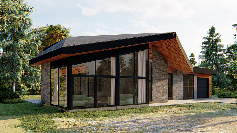 maison plain pied avec garage mauricie