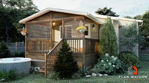 maison contemporaine toit terrasse quebec