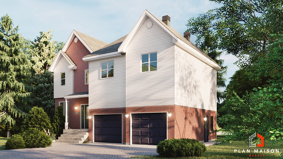 plan de maison avec garage mirabel