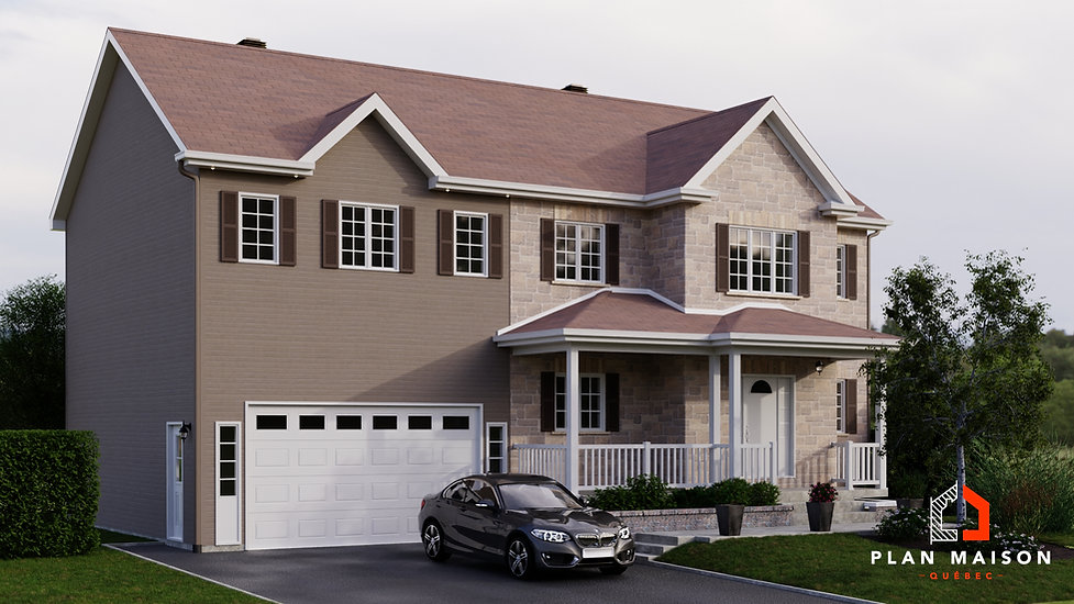 plan de maison avec garage monteregie
