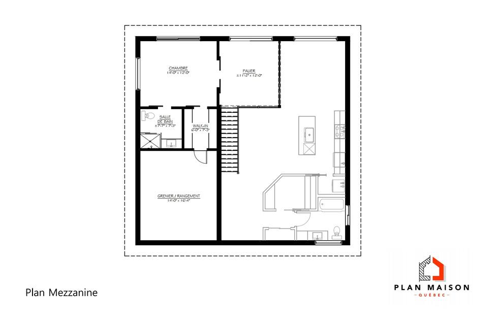 plan de maison avec garage estrie