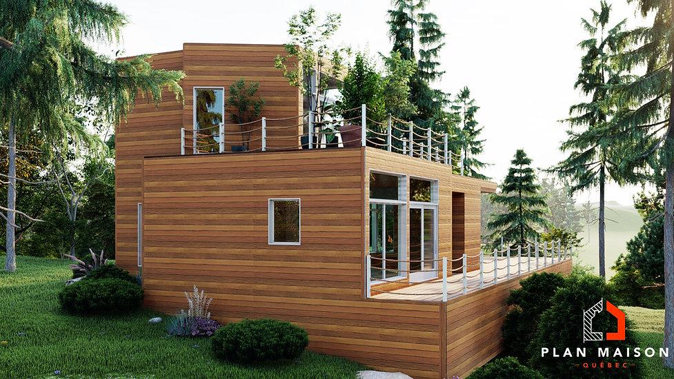 plan maison moderne abitibi