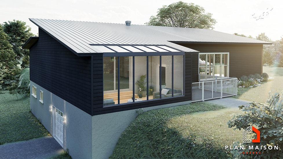 plan de maison contemporaine alma