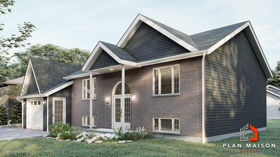 plan de maison bungalow avec garage quebec