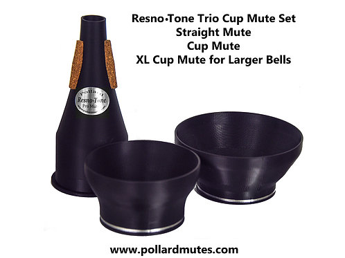 Resno-Tone TRIO Adjustable Cup Mute Set with Extra Cup for Big Bells