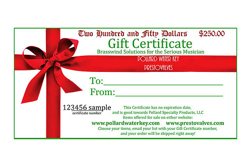 25 Dollar Gift Certificate USE FOR ANY POLLARD MUSIC PRODUCT
