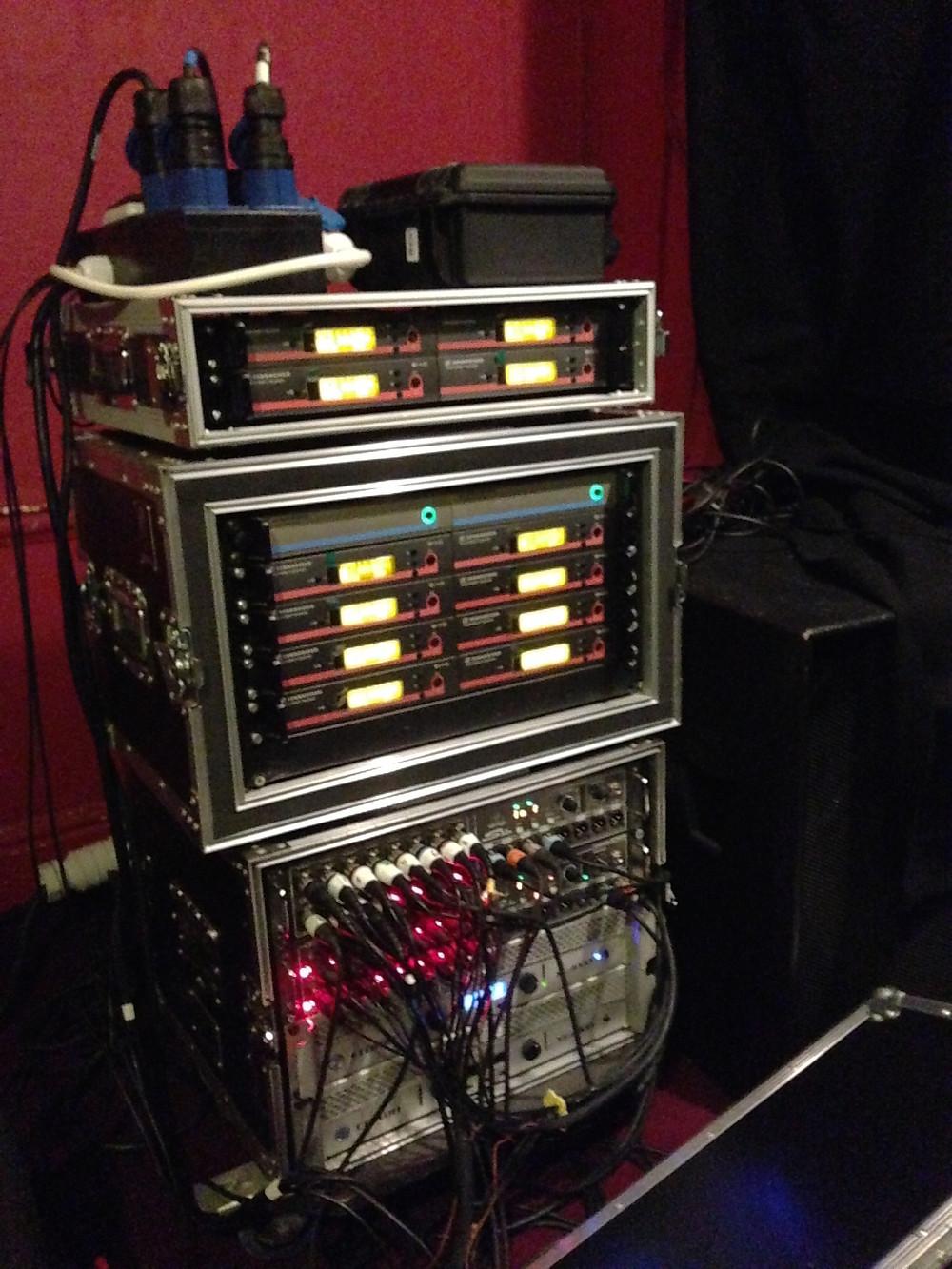 Radio racks and Digital Snake