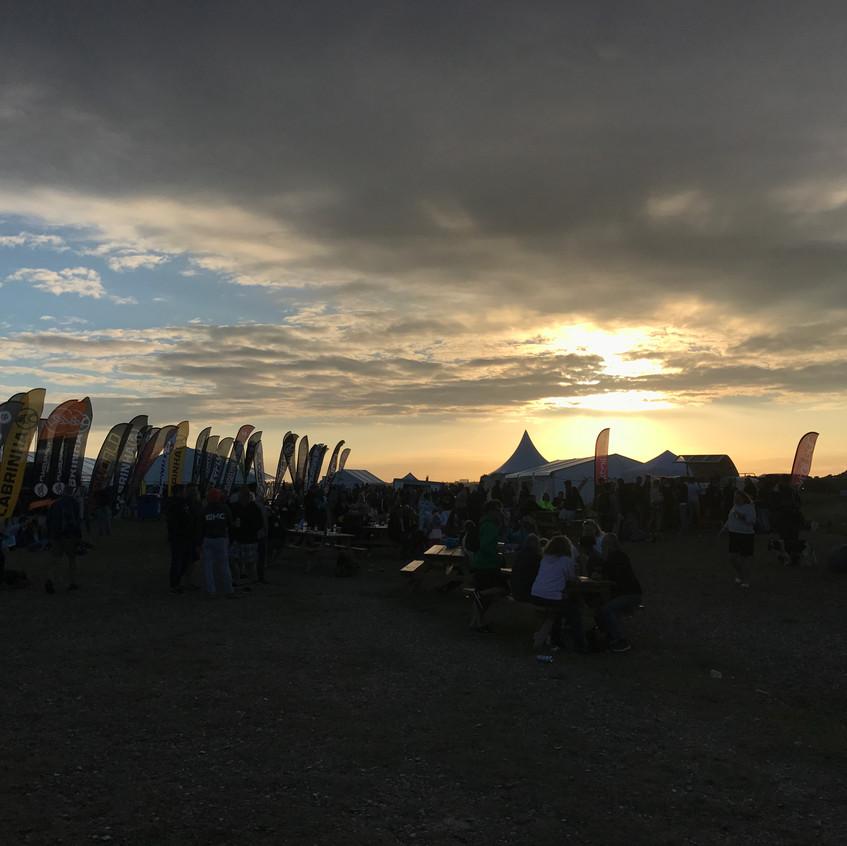 Sunset over the VKSA Arena