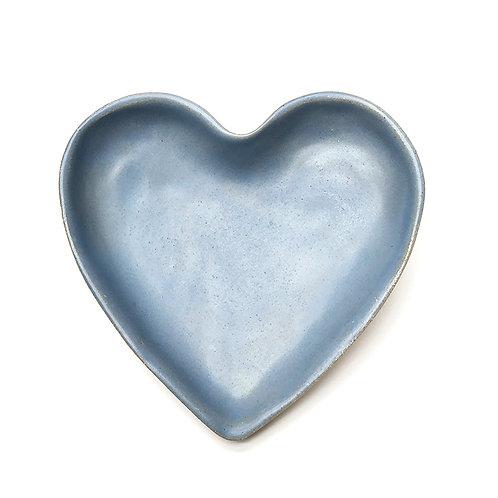 Coração Bandejinha Azul