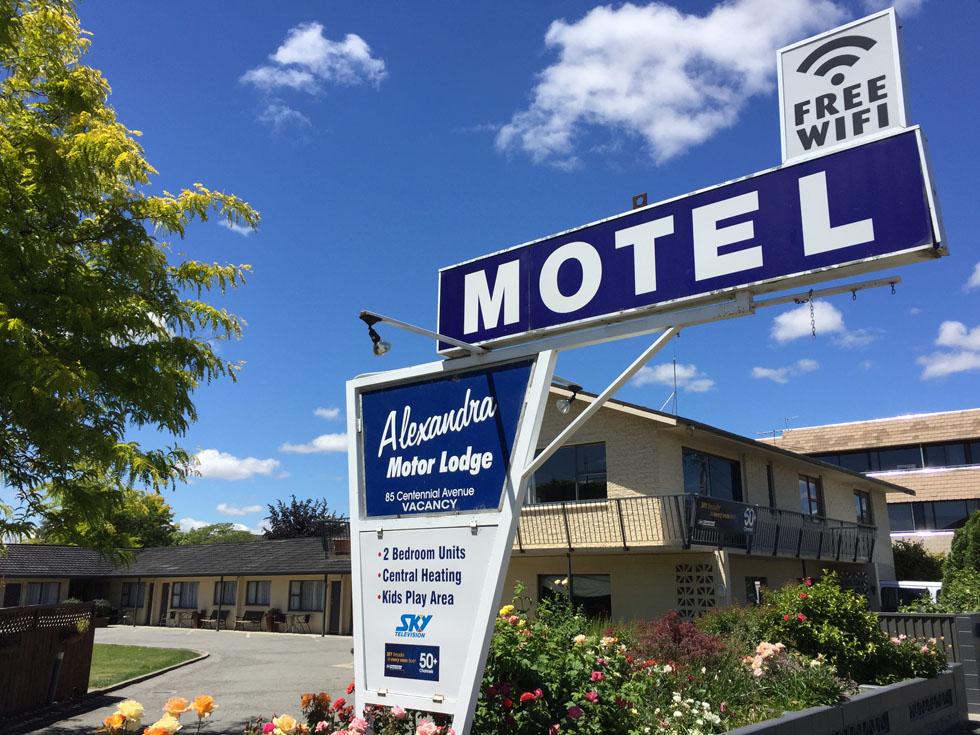 Alexandra Motor Lodge Entrance