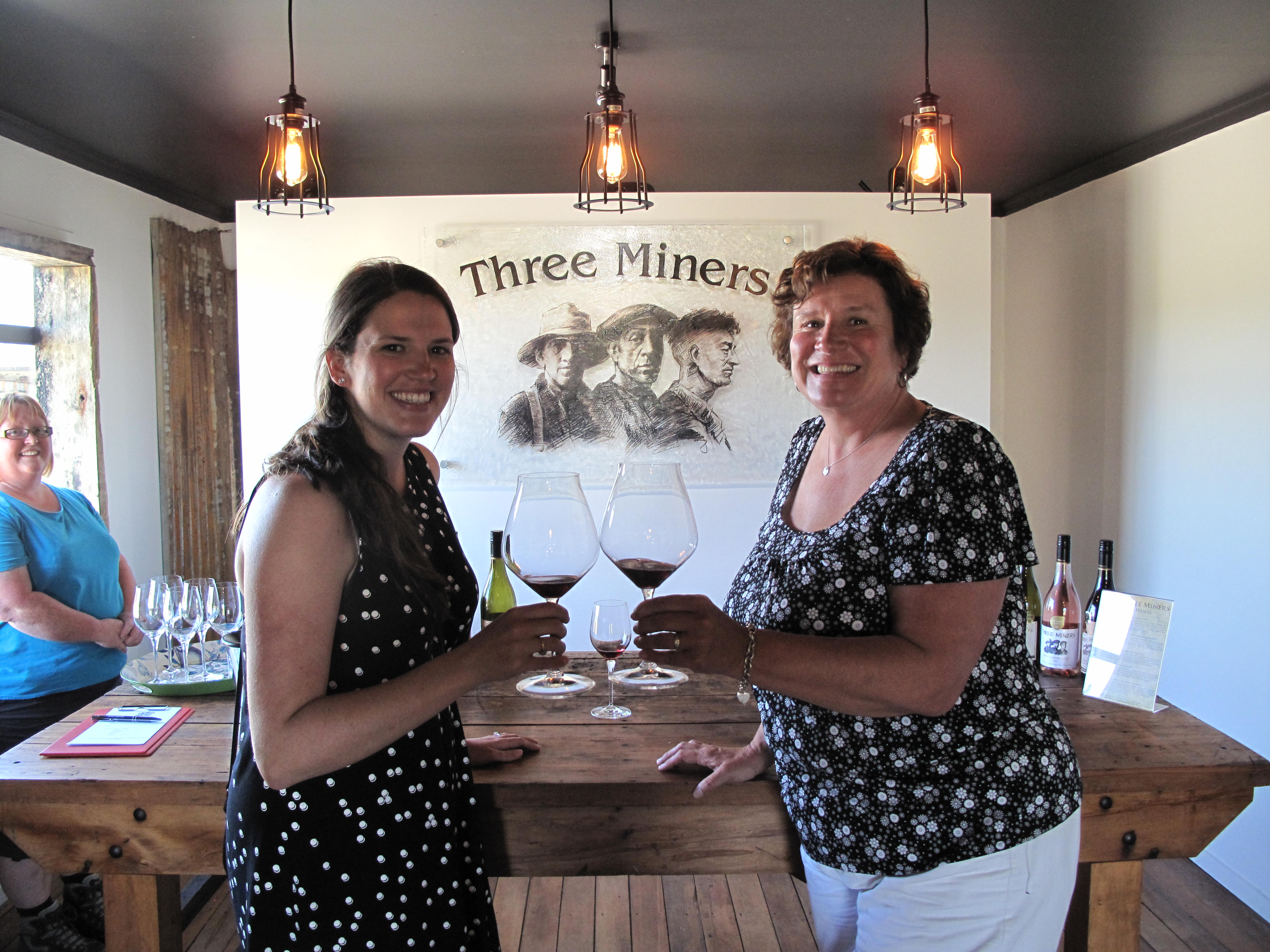 Vine 2 Wine customers at Three Miner