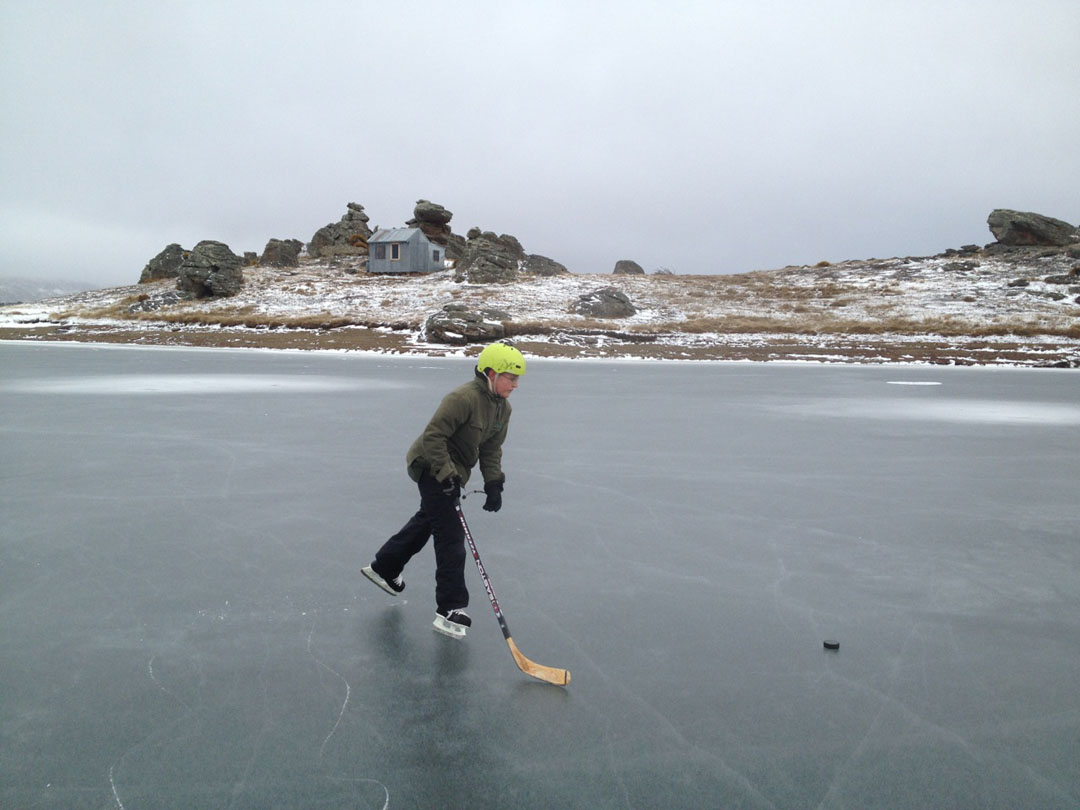 Frozen Lake in Central Otago