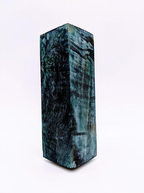 Curly Maple Block | Blue