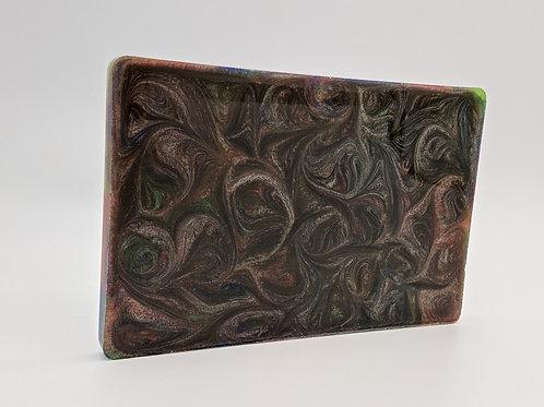 Resin Handle Material | Green/Silver