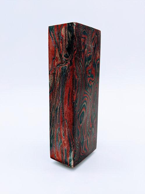 Russian Micarta | Dark Green/Red Micarta