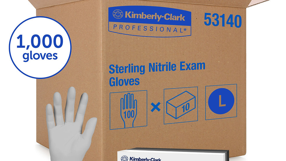 Kimberly-Clark™ Nitrile Gloves (Large) - Sterling Nitrile-XTRA, Pack of 100pc