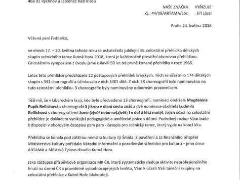 Ministerstvo kultury ocenilo pedagogickou práci TaPS Magdaléna