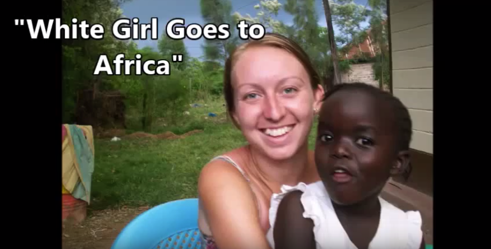 white girl goes to africa