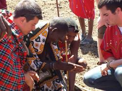 Maasai making fire2-Kenya