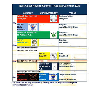 Dalkey rowing club regatta timetable 202