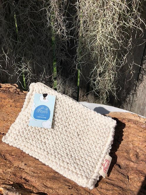 Handknitted Cotton Lip Balm Bag