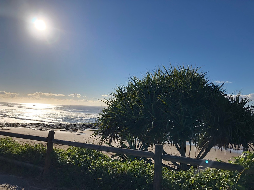 Warm winter sun on East Ballina Beach