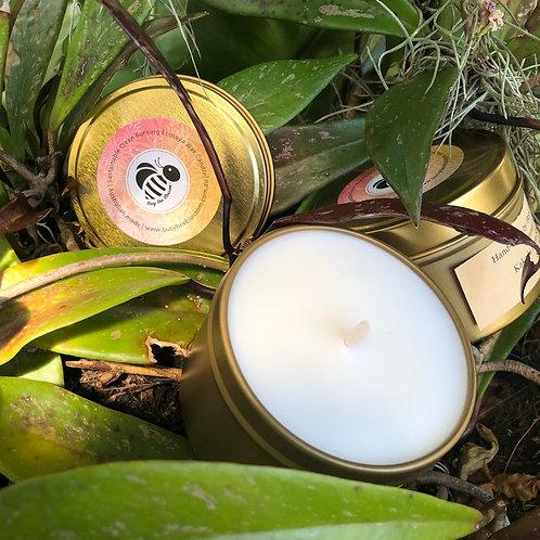 Kakadu Plum scented Rose Gold Travel Tin Candle