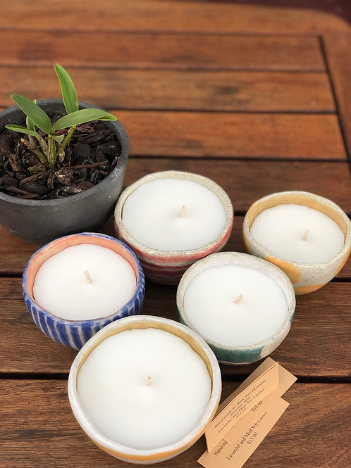 Coconut and Soy Wax Kiln Fired Candle Pots