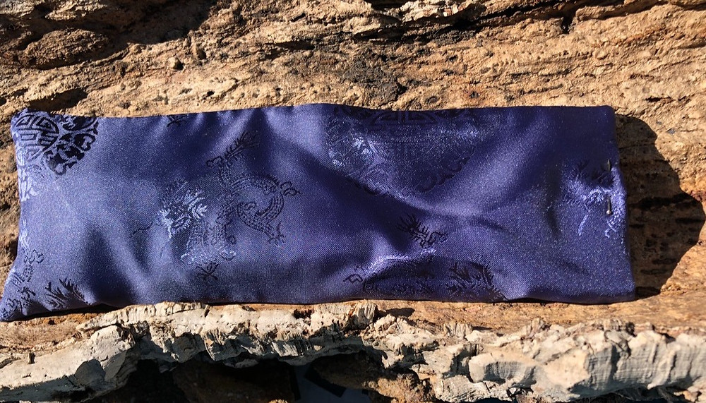 Lavender Eye Pillow by Busy Bee Blossom filled with lavender and linseed to help you relax