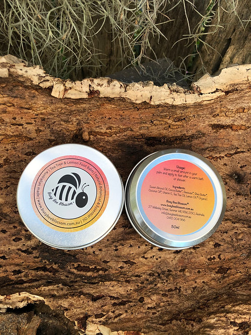 Tea Tree and Lemon Foot Balm new canister