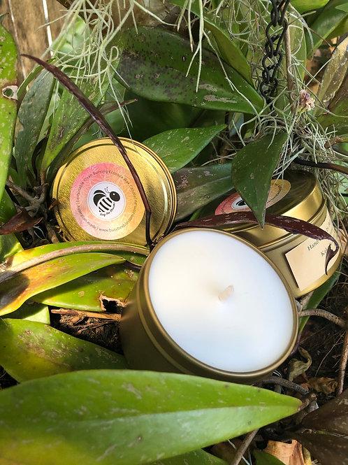 KakaduPlum scented Rose Gold Travel Tin Candle