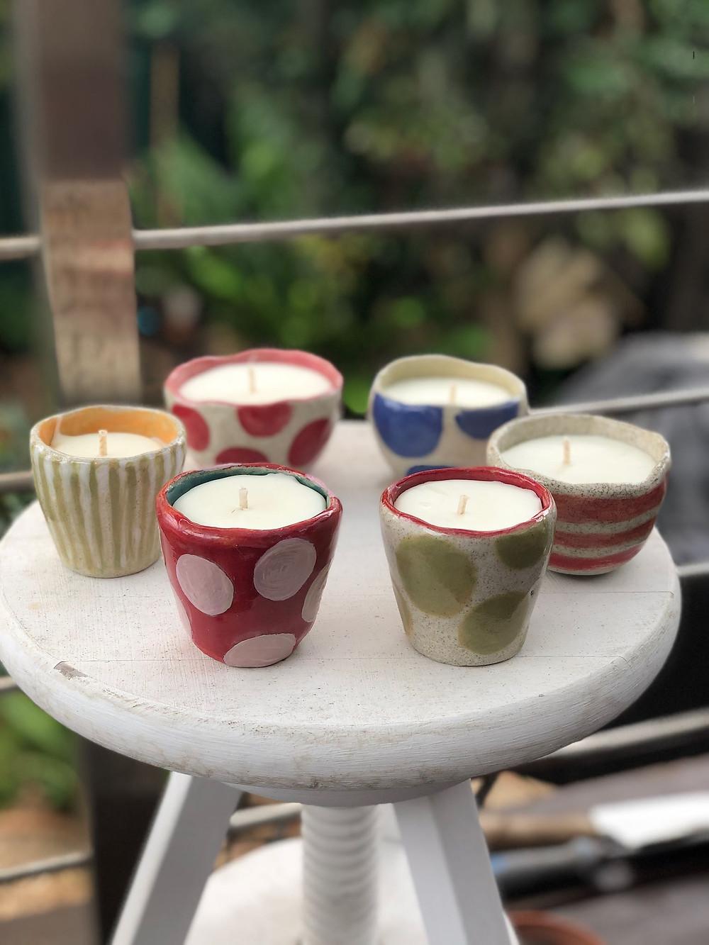 Ceramic Stoneware Eco friendly candles