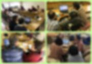 障がい者向けパソコン教室のコラージュ画像