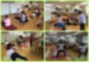 ヨガ教室のコラージュ画像