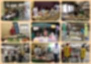 販売会のフォトコラージュ画像