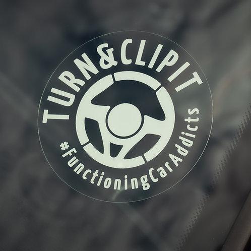 Turn&ClipiT Static Windscreen Decal