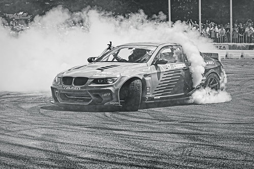 BMW Drifting at 2019 FoS. A direct print on aluminium dibond.